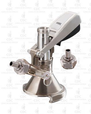 Conector tipo A con válvula de alivio Talos