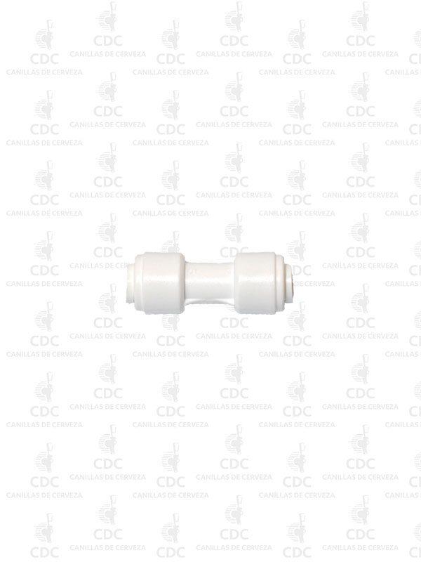 """Acople rápido tipo John Guest tubo recto para manguera de 1/4"""".Ideal para instalaciones de cerveza, agua y co2."""