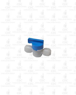 Llave de paso acople rápido 1/4″ Fluidfit