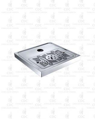 Bandeja de goteo de 41,4 x 41,4 x 4,2 cm con agujero 50mm